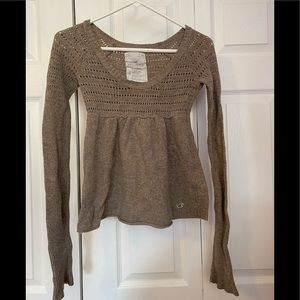 Hollister Woven Pullover Summer Sweater size S